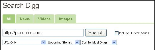digg search How to know when someone Dugg your article