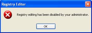 disabled registry editor