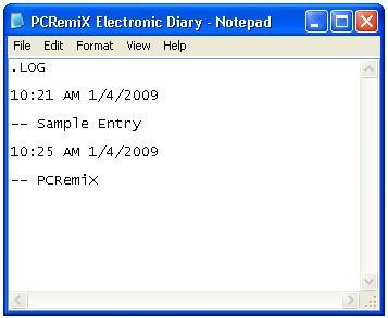 pcremix-electronic-diary