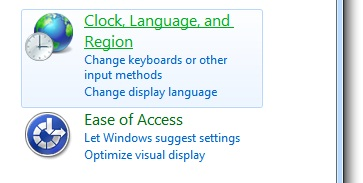 windows 7 clock settings