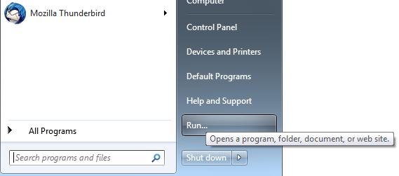 windows 7 run command
