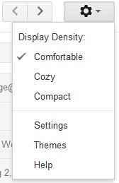 gmail display density