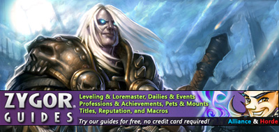Free Zygor World of Warcraft Leveling Guides