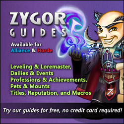 zygor world of warcraft leveling guide
