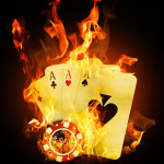 flaming cards iphone 5 wallpaper