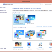 windows personalization