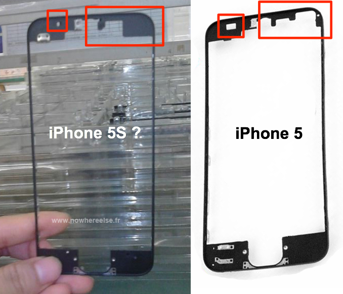 Leaked Photo of iPhone 5S Front Panel Show New Sensor Array